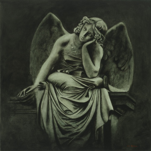 "Angel. Oil on canvas, 2012 (24""x24"")"
