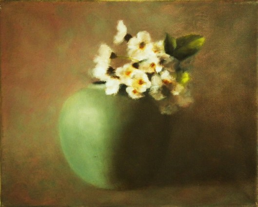 Still life with Cherry Blossom, oil on canvas, 10